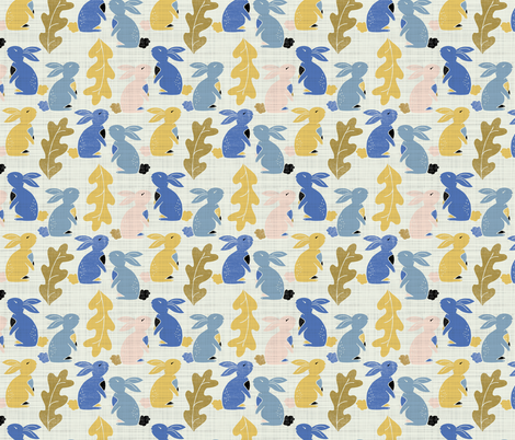 Autumn Bunny hop  fabric by gemmacosgroveball on Spoonflower - custom fabric
