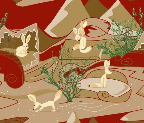 Fennec Fox fabric by edrouga on Spoonflower - custom fabric