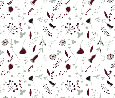 Elegant holiday white  fabric by bruxamagica on Spoonflower - custom fabric
