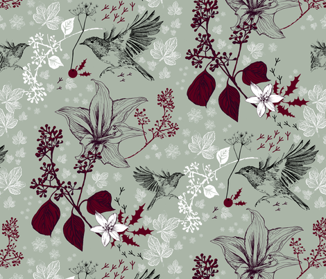 Amaryllis fabric by parryprint on Spoonflower - custom fabric