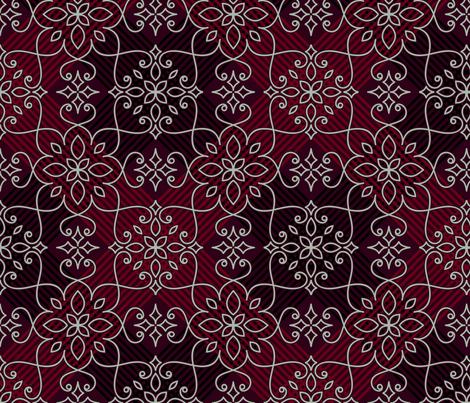 lace on dark red fabric by klivenkova on Spoonflower - custom fabric