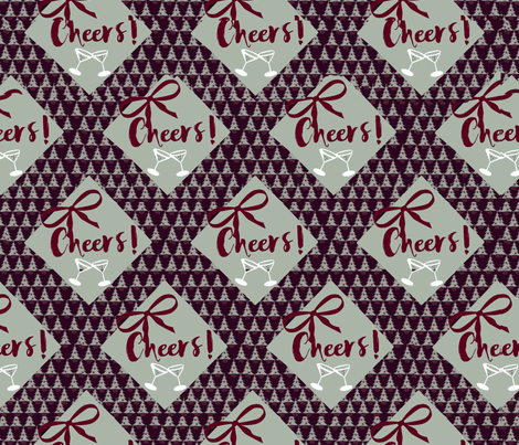 Ribbons of Cheers fabric by lkm3s on Spoonflower - custom fabric