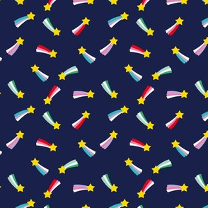 Shooting stars sparkle universe sweet dreams theme navy xs