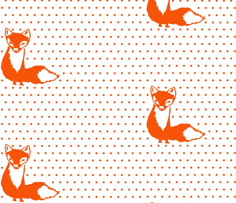 foxy  fabric by jasmandy on Spoonflower - custom fabric
