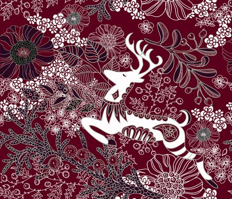 Lanai City Elegant Holiday  fabric by honoluludesign on Spoonflower - custom fabric