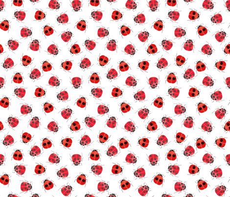 Ladybugs fabric by cat_hayward on Spoonflower - custom fabric