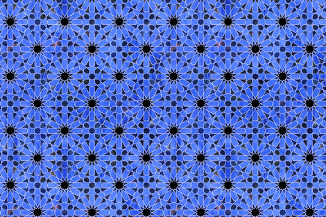 hara tiles bright blue fabric by schatzibrown on Spoonflower - custom fabric