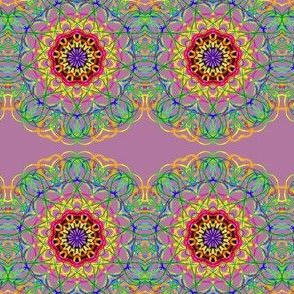 Dainty Floral Lace on Dusky Mauve
