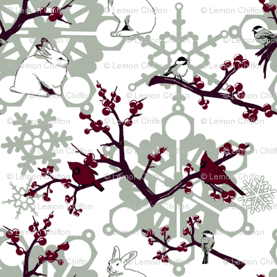 Winter Berries and Birds