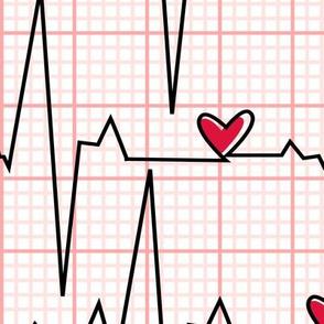 EKG Plaid - Large Scale