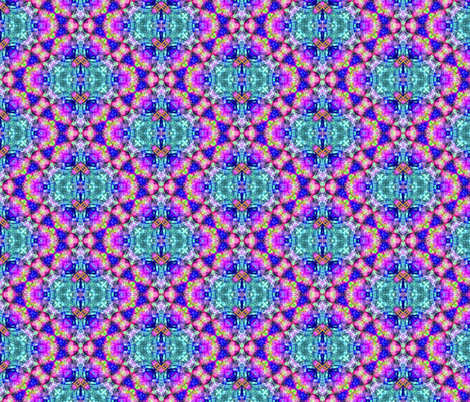 Feathered Blue & Purple Gems fabric by just_meewowy_design on Spoonflower - custom fabric