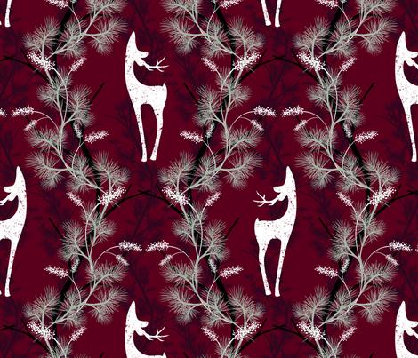 Woodland Stag fabric by byre_wilde on Spoonflower - custom fabric
