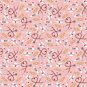 Nurse Gift Fabric Wallpaper Home Decor Spoonflower