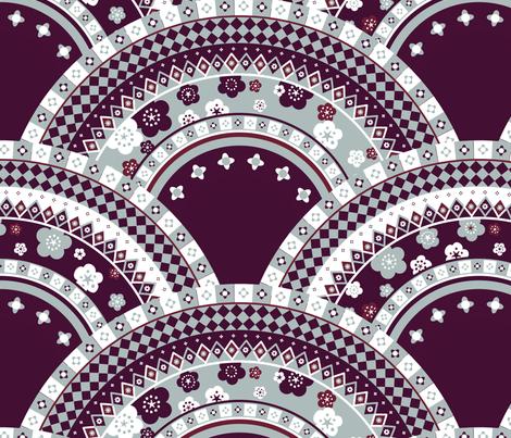 assiettes fabric by lisahilda on Spoonflower - custom fabric