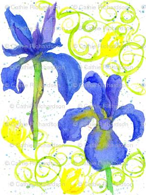Iris in Royal Blue