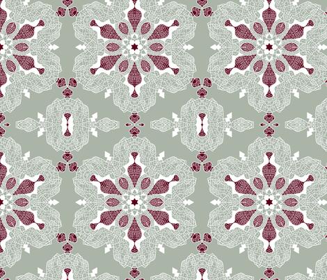Snowflake of Streets fabric by meduzy on Spoonflower - custom fabric