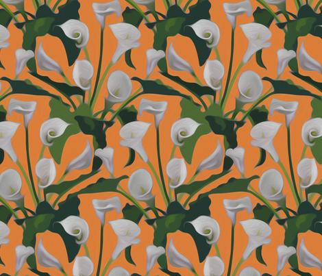 callas bright orange 2 fabric by nlsd on Spoonflower - custom fabric