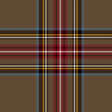 "King George VI / Green Stewart tartan,  worn by Prince Charles, 6"" weathered fabric by weavingmajor on Spoonflower - custom fabric"