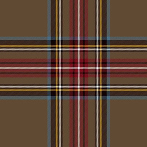 "King George VI / Green Stewart tartan,  worn by Prince Charles, 6"" weathered"