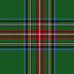 "King George VI / Green Stewart tartan,  worn by Prince Charles, 6"" modern"