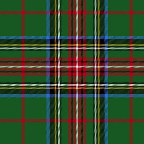 "King George VI / Green Stewart tartan, red stripe, 6"" modern"