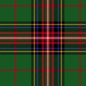 King George VI tartan variant, red stripe, 6""