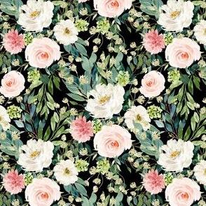 "4"" Pink and White Garden - Black"