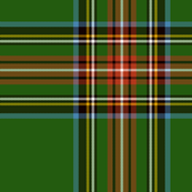 "King George VI / Green Stewart tartan,  worn by Prince Charles, 7"" ancient"