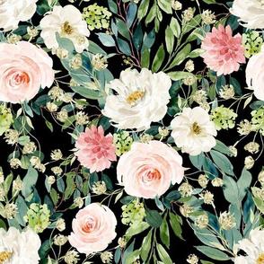 "10.5"" Pink and White Garden - Black"