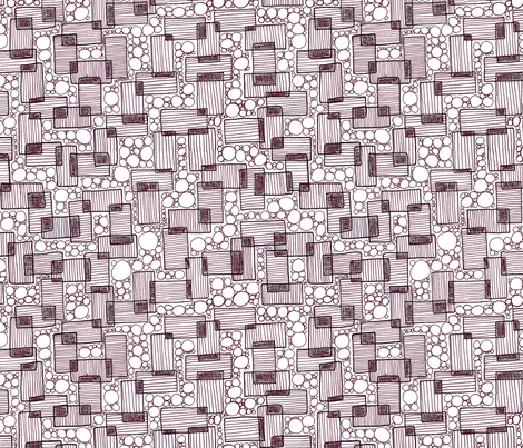 Zen Rectangles Elegant Holiday Med fabric by qideaz on Spoonflower - custom fabric