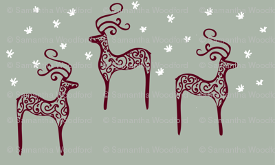 reindeers on a starry night