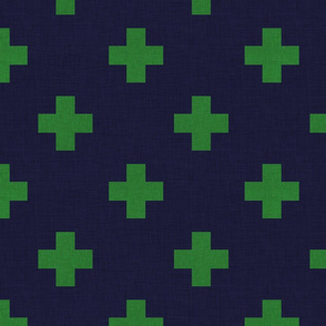 plus one navy and green