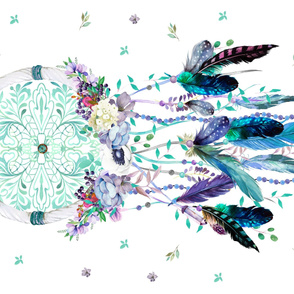"42""x56"" Teal & Lilac Dreamcatcher"
