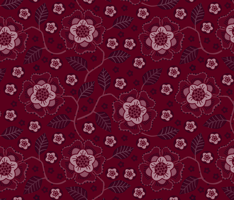 Winter Rose fabric by lily_studio on Spoonflower - custom fabric