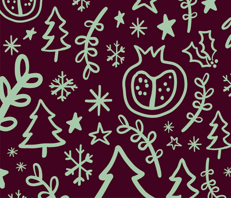 Winter Pom fabric by rachelswanson on Spoonflower - custom fabric