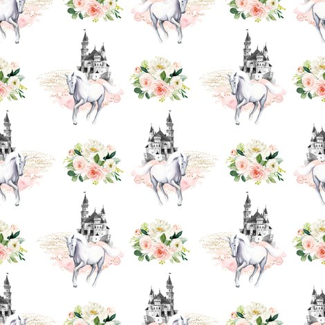 Runicornandcastlewithpinkandwhiteflowers_shop_preview