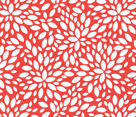 Petals seamless pattern fabric by pillowfighter on Spoonflower - custom fabric