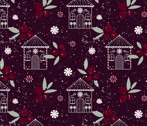 Gingerbread Lane fabric by leilani8689 on Spoonflower - custom fabric