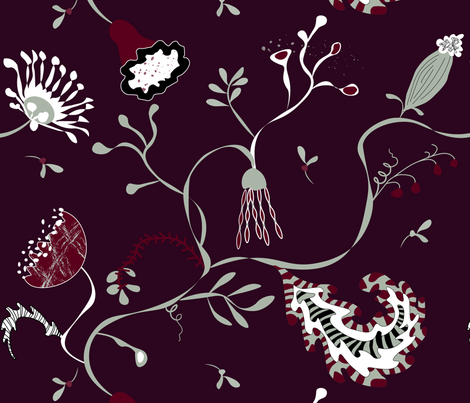 Eclectic Elegant Holiday fabric by goatfeatherfarm on Spoonflower - custom fabric