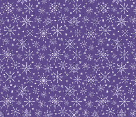 Snowflakes - ultra violet fabric by gingerlous on Spoonflower - custom fabric
