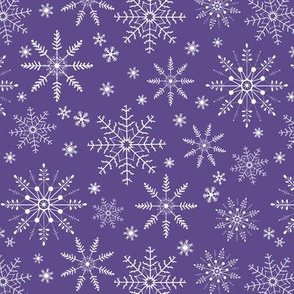Snowflakes - ultra violet