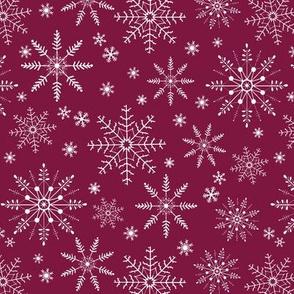 Snowflakes - cranberry