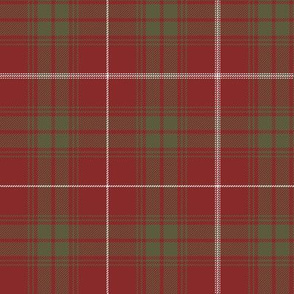 "Rothesay red doubled tartan, 6"" weathered"