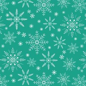 Snowflakes - arcadia green