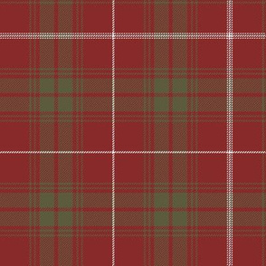 "Rothesay red doubled tartan, 7"" weathered"