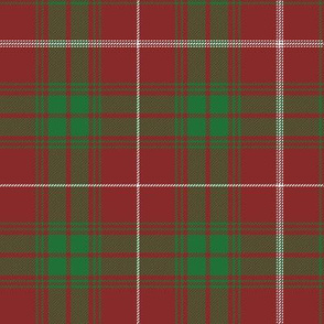 Rothesay red doubled tartan, 7""