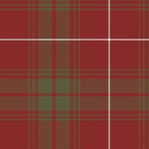 "Rothesay red doubled tartan, 12"" weathered"