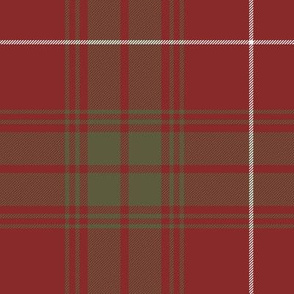 "Rothesay red doubled tartan, 14"" weathered"