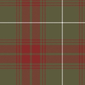 "Rothesay hunting doubled tartan, 12"" weathered"