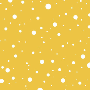 Snow ( Mistletoe Gold and Blue)